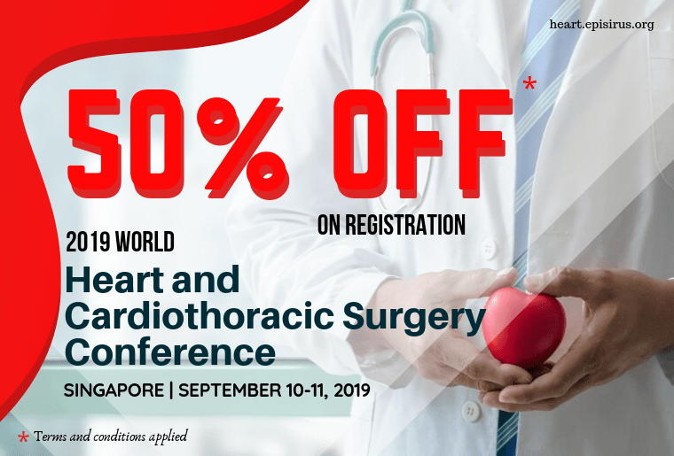50%off in registration , 2019 World Heart and Cardiothoracic Surgery Conference-min
